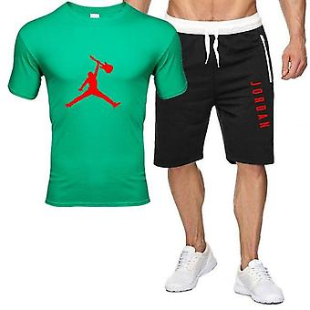 Men Outfits, T-shirt, Shorts, Summer Set, Tracksuit, Sport Jogging Sweatsuit,