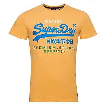 Superdry VL Tri 220 Logo T-Shirt Ochre Marl VYR