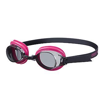 Arena Bubble 3 Junior zwemmen Goggle - rook Lens - Fuchsia/zwart Frame