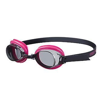 Arena boble 3 Junior svømme Goggle - røyk linse - Fuchsia/svart ramme