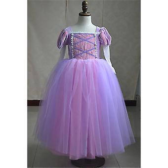 Rapunzel Wig + Princess Dress9 av hög kvalitet (set 1)