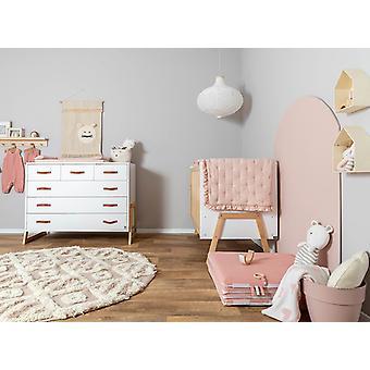 الوردي ستار التطريز سرير صحائف