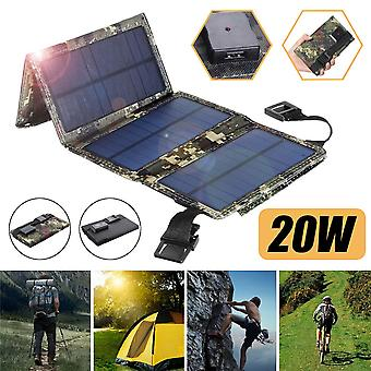 Foldable Solar Panel 20W USB Flexible Small Waterproof 5V Folding Solar Panels Cells For Smartphone Battery Charger