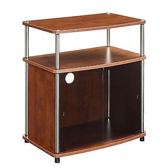 Designs2Go TV-Ständer mit schwarzem Glasschrank - R5-192