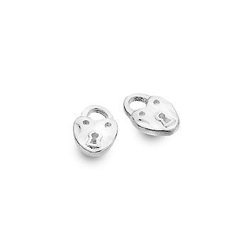 Boucles d'oreilles Sterling Silver Stud - Origins Heart Padlock