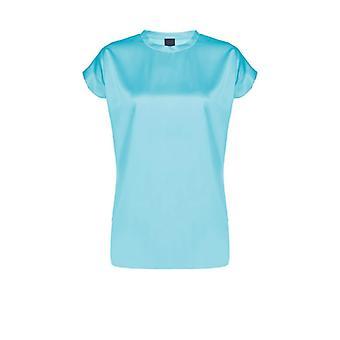 Pinko Farida Satin Turquoise Blouse