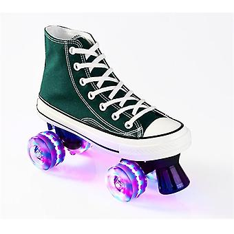 Unisex Canvas Double Line Skates For Adult/kid