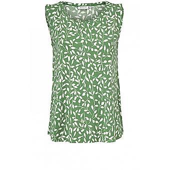 Masai klær Elisa green leaf design topp