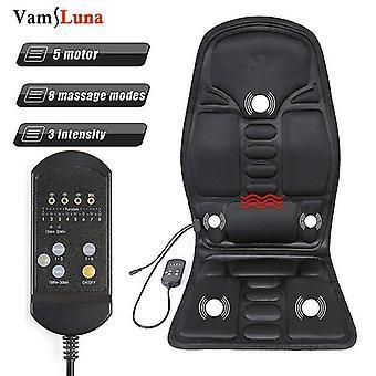 Ganzkörper-Rücken-Taille Infrarot-Therapie beheizt Massage elektrische Vibrator Kissen Sitz Auto Home Office Massage Stuhl Pad
