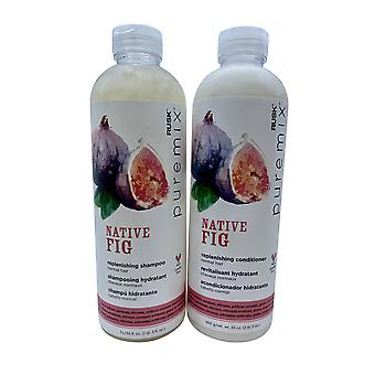 Rusk Pure Mix Native Fig Replenishing Shampoo & Conditioner Set 35 OZ Each
