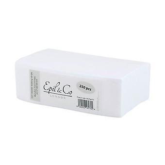 DEO Epil &Co Bandes de Haute Qualité pour Épilation à la Cire - 100% Polyester - Pack de 250