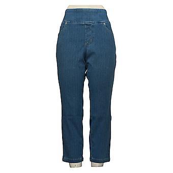 Belle by Kim Gravel Women's Petite Pants Flexibelle Knit Blue A284898