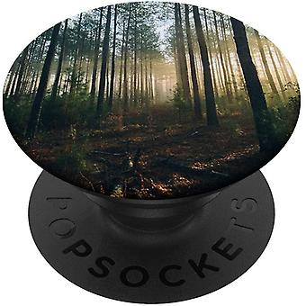 FengChun Wald - Baum Natur PopSockets PopGrip: Ausziehbarer Sockel und Griff fr Handys/Tablets mit