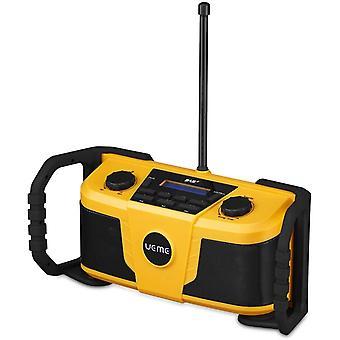 FengChun Baustellenradio DAB+ DAB FM Radio, Digitalradio mit Bluetooth und Wecker und Dimmer,
