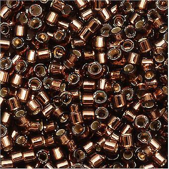ميوكي ديليكا بذور الخرز، 11/0 الحجم، 7.2 غرام، الفضة اصطف براون DB150