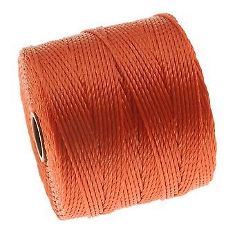 スーパーロン(S-Lon)コード - サイズ18ツイストナイロン - オレンジ/ 77ヤードスプール