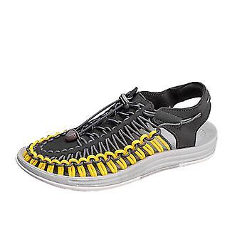 Sandales en tricot casual de couleur jaune