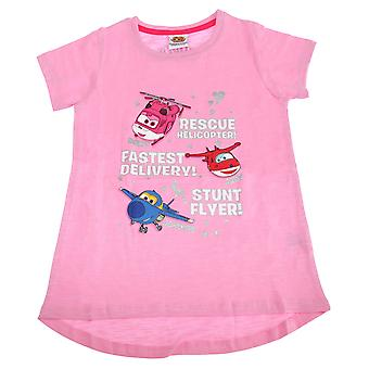 Super Wings Toddler Girls Jerome Donnie And Jett Character T-Shirt
