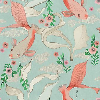Onzself Koi Blue Wallpaper
