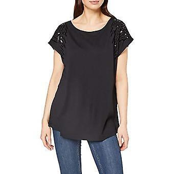 MUSTANG Alina C Sequences T-Shirt, Black (Caviar 4132), Medium Woman