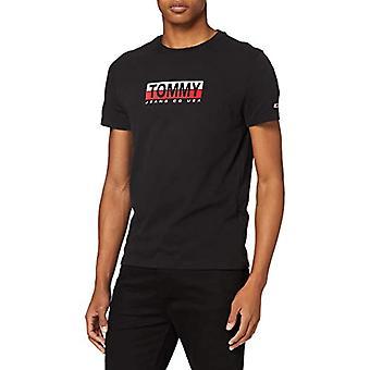 Tommy Jeans Tjm Tommy Contrast Box Camiseta, Negro, XS Hombre