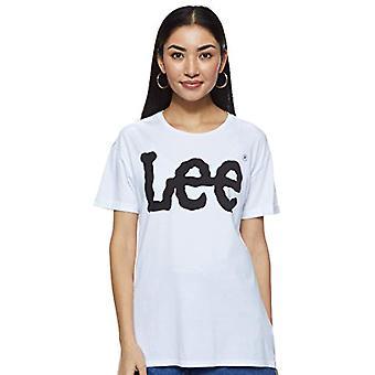 Lee Logo Tee T-Shirt, Vit (Vit Ep12), Stor kvinna