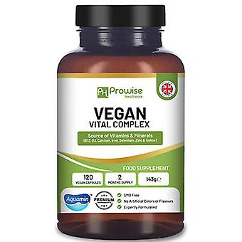 Vegan Vital - Multivitamins Complex 120 Capsules - Vitamins and Minerals Formulation by Prowise