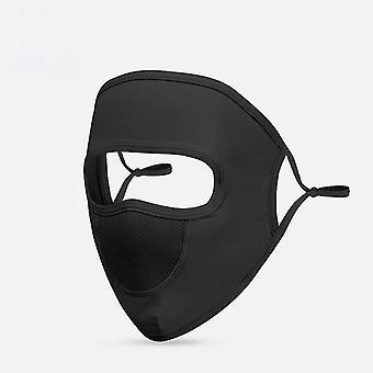 Protection UV femmes masque solaire masque complet glace soie réglable masque respirant anti-poussière