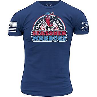 Grunt Style Seasoned Wardogs T-Shirt - Royal Blue