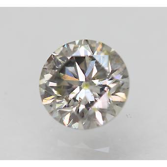 Sertifioitu 0,50 Ct Fancy Harmaa SI1 Pyöreä Brilliant Parannettu Luonnon timantti 5,02mm