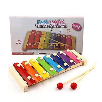 Montessorin varhaiskasvatuslelu, puinen kahdeksan nuotin kehystyylinen ksylofoni,