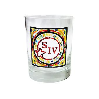 Maker's Mark Whiskey SIV Stained Glass Print Rocks Glass
