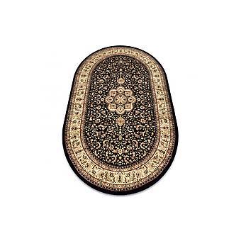 Rug ROYAL ADR disegno ovale 521 nero
