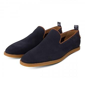 Hudson Parker Navy Suede Slip On Shoes