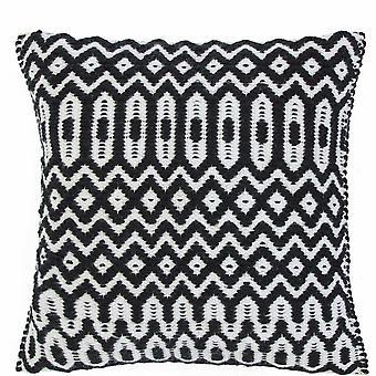 Halsey Geometric Outdoor Cushion In Black