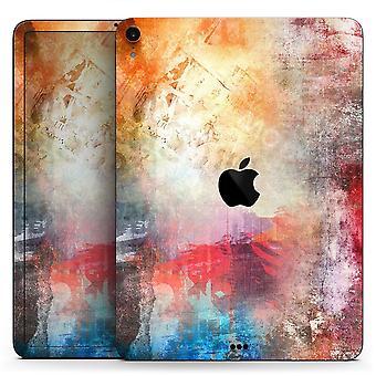 Grunge bunte verblasste Farbe - Ganzkörper-Haut-Aufkleber für den Apfel Ipad