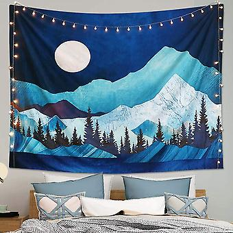 Forest Tree Moon Tapestry Wall Hanging