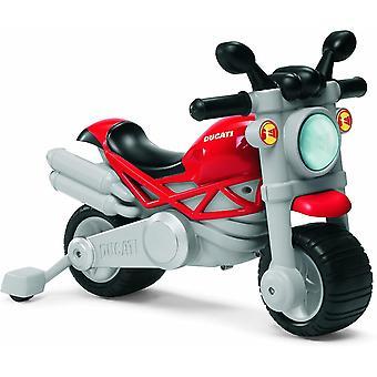Chicco Ducati Monster Rutscher Motorrad für Kinder, Motorrad mit Hupe und Motorgeräusch, Abnehmbare