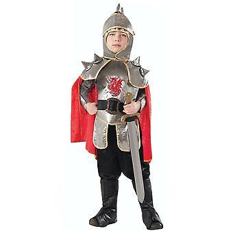 sølv ridder middelaldersk renessanse kriger hær soldat bok uke gutter kostyme