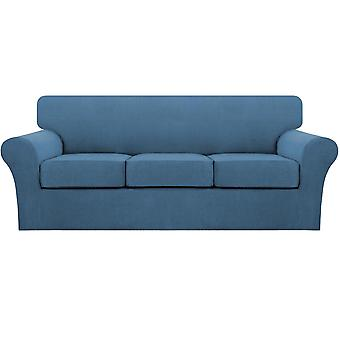 Stretch sofa covers dusty blue couch covers for living room sofa slipcovers (base cover plus 1/2/3/ seat cushion covers)-dusty blue