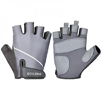 New Sports Fitness Gloves Strength Training Anti Slip Bicycle Riding Half Finger Gloves
