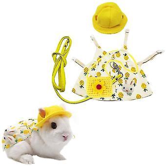 Lemmikki kani mekko, söpöt pienet eläimet pupu pääsiäispuku sunhat mini (keltainen)