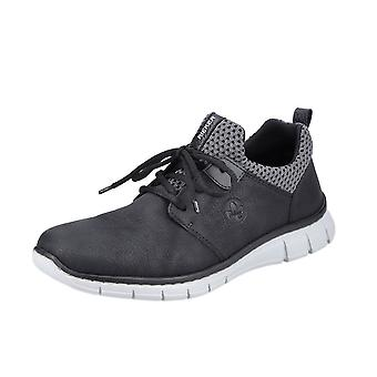 Rieker B77a6-01 Calcutta Mens Smart Casual Lace-up Sneakers In Black