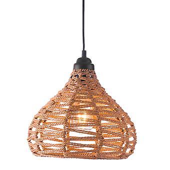 Lámpara de techo tejida natural Tear Drop