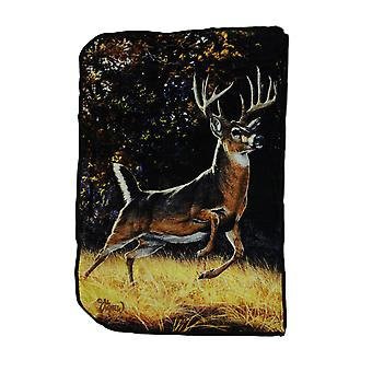 Bewildered Buck Decorative Super Soft Plush Coral Fleece Throw Blanket 40X63 In.