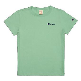 Champion Reverse Weave Small Script Logo Crewneck 112195GS068 universal all year women t-shirt