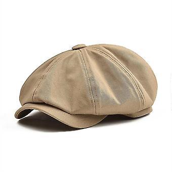 יוניסקס גדול Newsboy Twill כותנה פאנל כובע רטרו