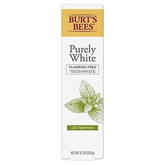 بيرت النحل الأبيض البحت فلوريد معجون أسنان مجاني، النعناع، 4.7 أوقية