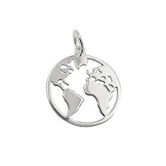 Pendant World Atlas Polished Silver 925 39417 39417 39417