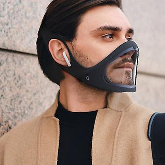 2 Stück Gesichtsmasken Einstellbare und wiederverwendbare Anti-Fog Magnetische Erwachsene Silikon Smart Mund muffles